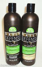 DAILY DEFENSE Moisturize Shampoo & Conditioner Enriched W/ Macadamia Oil 16ozea