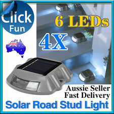 4X Solar Power 6 LED Outdoor Garden Driveway Path Light Road Stud Security Lamp