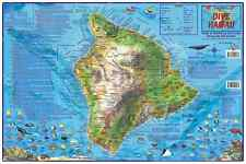 The Big Island Hawaii Dive & Snorkeling Laminated Map by Franko Maps