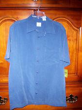 Greendog boys blues pinstripe short sleeve shirt Large NWT fall spring summer