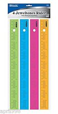 "Bazic 4pcs/pack BAZIC 12"" 30cm jeweltones Ruler with Multiplication Prints #310"