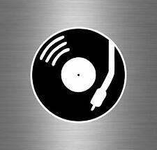 Autocollant sticker voiture biker macbook platine dj disc jockey deco disque