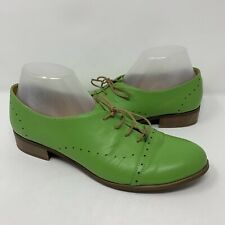 Julia Bo Gatsby Oxfords Leather Green Size 41 (10 US) Womens Lace-up Shoes