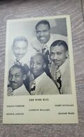 Deep River Boys Gospel music sighed Post Card Signatures on the back.
