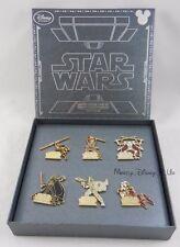 Disney D23 Expo 2015 Exclusive Star Wars Episode I -VI Boxed 6 Pin Set LE 700
