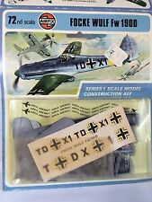 New Rare Airfix 1:72 Scale Focke Wulf Fw 190D Model Airplane Kit 1973 Carded