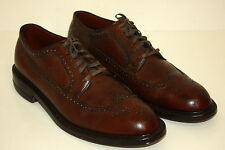 Edwin Clapp Vintage 1950s Longwing Pebble Grain Dress Shoes Wing Tips 10.5 A/C