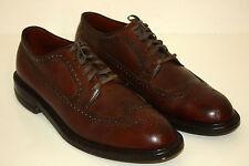 Edwin Clapp Vintage 1950s Longwing Pebble Grain Dress Shoes Wing Tips 10.5 A/C