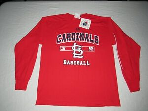 St. Louis Cardinals Majestic Red Long Sleeve Shirt Youth Size L NWT