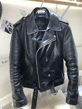 Schott nyc Model 613SH Size 38 vintage Perfecto One Star black horsehide jacket