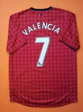4.5/5 Manchester United #7 Valencia 2012 2013 Football Home Jersey Shirt Nike M