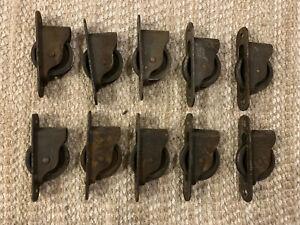 Lot of 10 Antique Andersen Window Sash Weight Pulleys