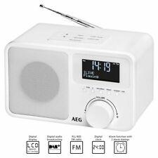 AEG Digitalradio DAB 4154 weiß DAB+ LCD-Display AUX-IN Wecker UKW Küchenradio