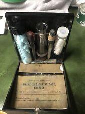 Vintage Eli Lilly Urine Sugar Test Kit Sheftel w Case & Instruction Booklet