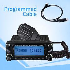 US Stock Zastone ZT-D9000 Car Mobile Radio 50W Walkie Talkie 50km UHF VHF +Cable