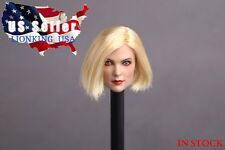 "1/6 Female Head Sculpt Short Blonde Hair For 12"" Phicen Hot Toys Figure ❶USA❶"