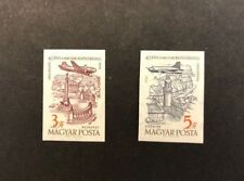 Hungary Scott No. C189-90 MNH Imperforate Imperf Imp Airplanes over Budapest