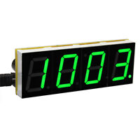 DIY Digital LED Large Screen Display Clock kit Green I4K8