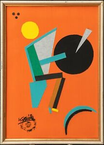 LAJOS KASSAK Composition Abstract Modern Mid Century Avant-Garde Kandinsky Art