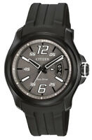 Citizen Eco-Drive Men's AW1354-15H HTM Charcoal Grey Dial Black Strap 43mm Watch