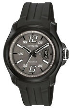 Citizen Eco-Drive Men's AW1354-15H HTM Charcoal Grey Dial Black Strap 43mm Watch