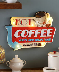Vintage Style Lighted Marquee Coffee Sign - Lighted Indoor Wall Accent