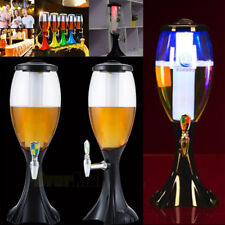 4.5L Cold Draft Beer Tower Dispenser Plastic with LED Lights New