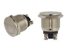 Vollmetall Taster Flach Schraubösen 19mm �–ffner 230V/2A Metall 7409