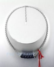 Full Lead Choker Necklace 926 Baccarat Jewelry Torsade St.Silver Midnight Blue