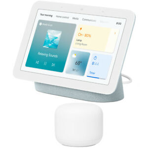 Google Nest Hub Smart Display with Google Assistant Mist 2nd Gen + Wifi Router