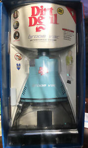 Dirt Devil Cordless Broom Vac Blue / Aqua Stick Vacuum ~NEW
