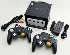 Nintendo GameCube DOL-101 Gaming System Console 2 Controller Bundle Black GCN