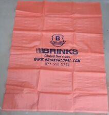 Brinks Orange Polypropylene Bank Bag Armor Deposit New Large 60x48 In Rare Sack