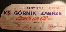 Ticket for collectors * Gornik Zabrze - Pogon Szczecin 1996 ?? Poland ??