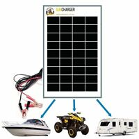 10W 12V MONO SOLAR PANEL REGULATOR TRICKLE BATTERY CHARGER RV AGM Complete Kit