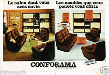 Publicité advertising 1978 (2 pages) Meubles Mobilier Canapé Salon Conforama
