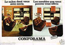 Publicité advertising 1978 (2 pages) Meubles Mobilier Canapé Salon Conforama