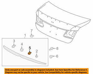 ( 1 ) GENUINE HONDA/ACURA 91560-TL0-G21 Garnish Retainer W/Seal Light Brown