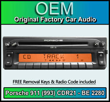 Porsche 911 (993) CDR21 Radio Becker BE 2280 CD player stereo code Removal Keys