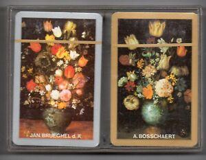 #N.020 Vintage Swap / Playing Card SEALED DECK, PIATNIK, Flowers, double deck
