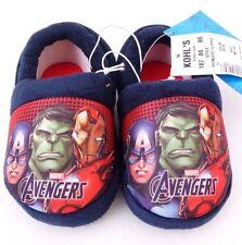Marvel Avengers Assemble Boy's Toddler Warm Plush Winter Slippers Size M 7/8 NWT