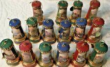Vintage Bradford Exchange Thomas Kinkade Illuminated Lighthouse Ornaments 18