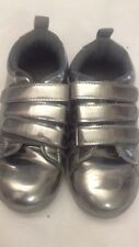 Scarpe da bambina - colore argento - N° 31 - chiusura con velcro -  USATE