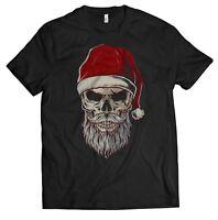 ffdc414d37eca7 Santa Skull T-Shirt Shirt Herren Bad Totenkopf Weihnachtsmann Ugly Sweater  Xmas