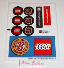 Lego STICKERS Hockey & Lego Logo 3579 Sports NHL * NEW Condition
