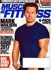 MUSCLE & FITNESS January 2017 MARK WAHLBERG, Tiger Schulmann,Tapout, Fitcon
