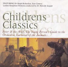 CHILDREN'S CLASSICS Peter Wolf Carnival Animals Young Person's Guide CD - New