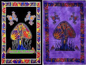 2 piece Mushroom Tapestry Bohomen Indian Wall Hanging Wholesale (77cmX102cm)BP-1