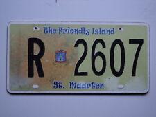 Expired Vintage ST MAARTEN Friendly Island License Plate R 2607