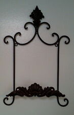 METAL DECORATIVE MOTIF PLATE RACK